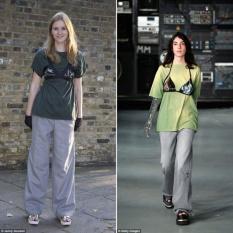Modelos satirizam uso de sutiã sobre camisetas