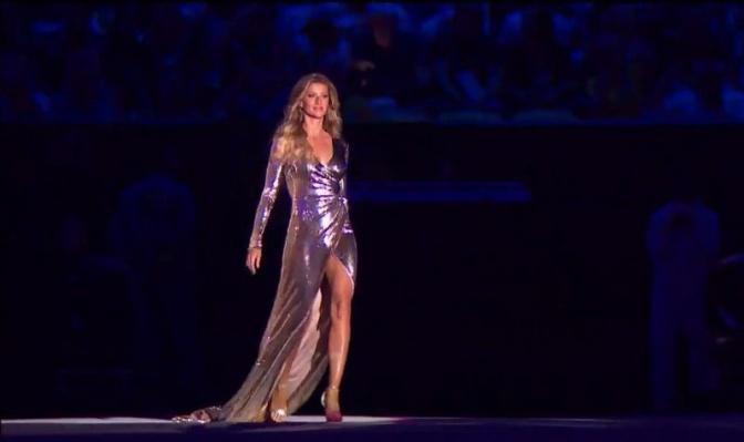 De quem é o vestido usado por Gisele Bündchen na abertura da Olimpíada 2016? Descubra