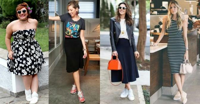 Aprenda a usar tênis + vestido!